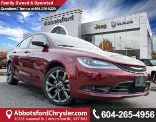 Used 2015 Chrysler 200 *ACCIDENT FREE* *CONVENIENCE OPTIONS* for sale in Abbotsford, BC