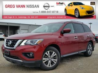 Used 2017 Nissan Pathfinder SL 4WD w/all leather,climate,rear cam,heated seats,pwr hatch for sale in Cambridge, ON