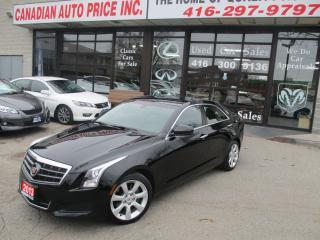 Used 2013 Cadillac ATS 2.0L Turbo-PRM-PKG-LEATHER-ROOF-LOADED for sale in Scarborough, ON
