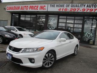 Used 2014 Honda Accord EX-CAMERA-SUNROOF-BLUE-TOOTH-ROOF-HETAED for sale in Scarborough, ON