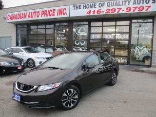 Used 2013 Honda Civic EX-ALLOYS-SUN-ROOF-BLUE-TOOTH-CAMERA for sale in Scarborough, ON