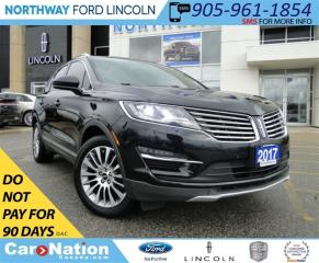 Used 2017 Lincoln MKC Reserve | NAV | LEATHER | PANO ROOF | REAR CAM | for sale in Brantford, ON