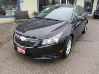 Used 2014 Chevrolet Cruze LOADED 2-LT MODEL 5 PASSENGER 1.4L - TURBO.. LEATHER.. HEATED SEATS.. CD/AUX/USB INPUT.. BACK-UP CAMERA.. TOUCH SCREEN.. for sale in Bradford, ON