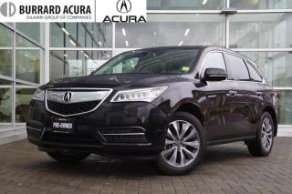Used 2016 Acura MDX Navi Low Kms/Navi/Bluetooth for sale in Vancouver, BC
