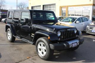 Used 2015 Jeep Wrangler Sahara Leather Navi Loaded for sale in Brampton, ON