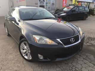 Used 2009 Lexus IS 250 w/Navi_Backup Camera_Bluetooth_Leather_Sunroof for sale in Oakville, ON