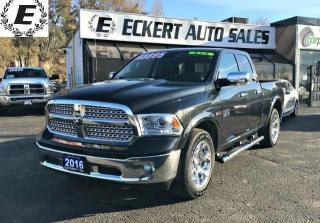 Used 2016 RAM 1500 LARAMIE ECO DIESEL 4X4 WITH LEATHER/SUNROOF for sale in Barrie, ON