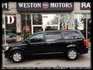 Used 2011 Dodge Grand Caravan SE*STOW N GO* POWER GROUP* WONT LAST LONG!!* for sale in York, ON