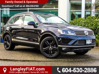 Used 2017 Volkswagen Touareg 3.6L Wolfsburg Edition NO ACCIDENTS, B.C OWNED for sale in Surrey, BC