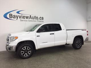 Used 2017 Toyota Tundra SR5- 5.7L|4x4|HITCH|HTD STS|NAV|REV CAM|BLUETOOTH! for sale in Belleville, ON