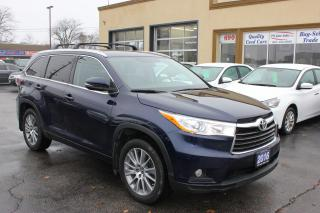 Used 2016 Toyota Highlander XLE AWD 8 Passenger Loaded for sale in Brampton, ON