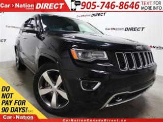 Used 2016 Jeep Grand Cherokee Overland| ECO DIESEL| PANO ROOF| NAVI| for sale in Burlington, ON
