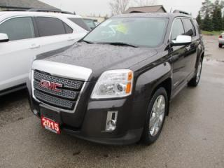 Used 2015 GMC Terrain LOADED SLT MODEL 5 PASSENGER 3.6L - V6.. LEATHER.. HEATED SEATS.. POWER SUNROOF.. NAVIGATION.. BACK-UP CAMERA.. BLUETOOTH SYSTEM.. for sale in Bradford, ON