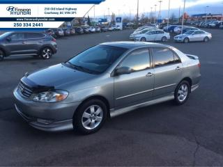 Used 2004 Toyota Corolla Sport  - local - trade-in for sale in Courtenay, BC