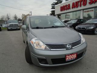 Used 2008 Nissan Versa 1.8 S  4 NEW TIRES PW PL AUXUILIARY FOLDING SEATS for sale in Oakville, ON