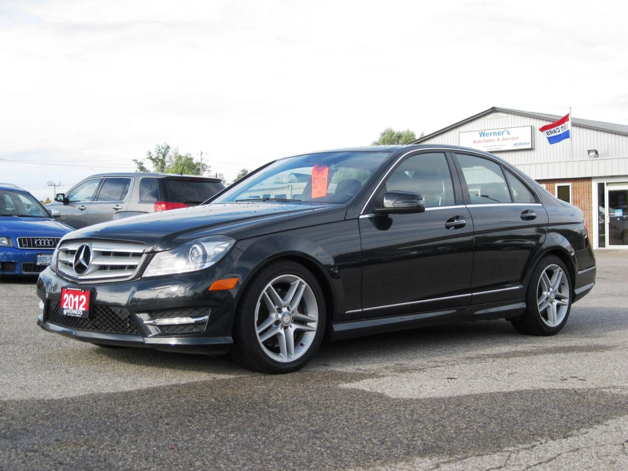 used 2012 mercedes benz c 300 4matic navigation for sale in cambridge ontario. Black Bedroom Furniture Sets. Home Design Ideas