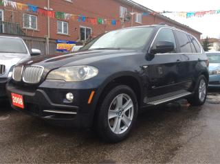 Used 2008 BMW X5 nav,blue tooth,aux,heated steering,heated seats for sale in Scarborough, ON