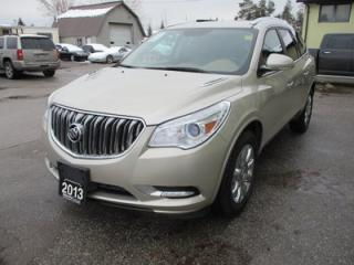 Used 2013 Buick Enclave LOADED PREMIUM EDITION 7 PASSENGER 3.6L - V6.. AWD.. CAPTAINS.. 3RD ROW.. LEATHER.. HEATED/AC SEATS.. BACK-UP CAMERA.. for sale in Bradford, ON