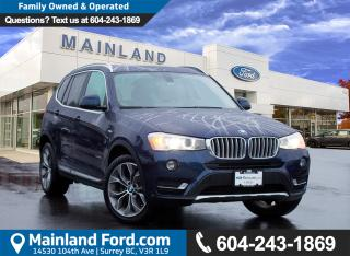 Used 2015 BMW X3 xDrive28d LOW KMS, LOCAL BC for sale in Surrey, BC