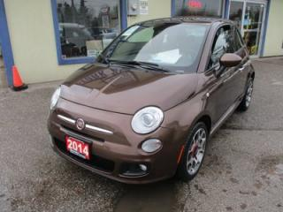 Used 2014 Fiat 500 FUEL EFFICIENT 'SPORT-EDITION' 4 PASSENGER 1.4L - 4 CYL.. 'SPORT-MODE'.. CD/AUX/USB INPUT.. LEATHER TRIM.. KEYLESS ENTRY.. for sale in Keswick, ON