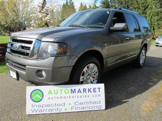 Used 2012 Ford Expedition Limited, Nav, Load, Inspected Free Warranty for sale in Surrey, BC