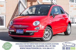 Used 2014 Fiat 500 Lounge CONVERTIBLE NO ACCIDENT SERVICE RECORD for sale in Caledon, ON
