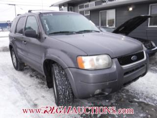 Used 2003 Ford ESCAPE LIMITED 4D UTILITY 4WD for sale in Calgary, AB