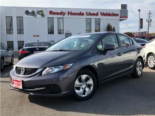 Used 2015 Honda Civic Sedan LX    2.99% Financing for sale in Mississauga, ON