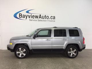 Used 2017 Jeep Patriot HIGH ALTITUDE- 4x4|ROOF|HTD LTHR|UCONNECT|CRUISE! for sale in Belleville, ON