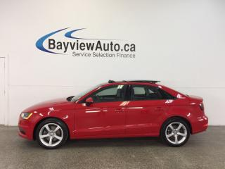 Used 2016 Audi A3 PREMIUM- TURBO|AWD|ROOF|HTD LTHR|BLUETOOTH! for sale in Belleville, ON