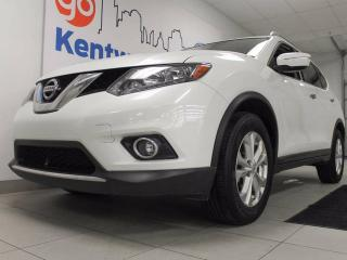 Used 2015 Nissan Rogue SV AWD with a twin panel sunroof, power leather seats and back up cam! All wrapped in a beautiful SUV for sale in Edmonton, AB