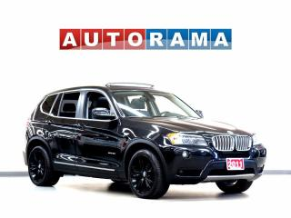 Used 2011 BMW X3 NAVIGATION LEATHER PAN SUNROOF 4WD BACKUP SENNSOR for sale in North York, ON