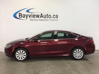 Used 2015 Chrysler 200 LX- PUSH BTN STRT|AC|CRUISE|LOW KM|CLEAN CARPROOF! for sale in Belleville, ON