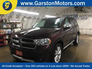 Used 2012 Dodge Durango CREW PLUS*AWD*NAVIGATION*LEATHER*POWER SUNROOF*REAR DVD PLAYER*BACK UP CAMERA*U CONNECT PHONE*KEYLESS ENTRY w/REMOTE START* for sale in Cambridge, ON