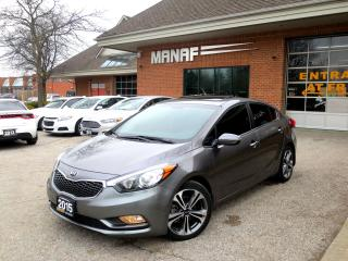 Used 2015 Kia Forte SX NAVI SUNROOF LEATHER NO ACCIDENT CERTIFIED for sale in Concord, ON