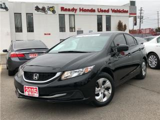 Used 2015 Honda Civic Sedan LX  | Heated Seats | Rear Camera for sale in Mississauga, ON