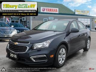Used 2016 Chevrolet Cruze LT 1LT. BLUETOOTH. REVERSE CAM. TOUCH SCREEN. for sale in Tilbury, ON