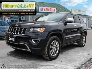 Used 2016 Jeep Grand Cherokee Limited. PUSH TO START. 4X4. LEATHER. for sale in Tilbury, ON