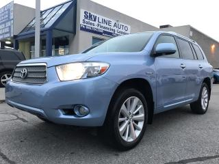 Used 2008 Toyota Highlander HYBRID 7 PASSGENGER|BLUETOOTH|SUNROOF|CERTIFIED for sale in Concord, ON