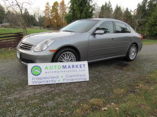 Used 2005 Infiniti G35 PREMIUM, AUTO, INSP, WARR for sale in Surrey, BC
