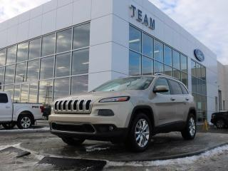 Used 2014 Jeep Cherokee LIMITED, ACCIDENT FREE, ROOF RAILS, BLUETOOTH, NAV, CRUISE, HEATED FRONT SEATS, REAR CAMERA, LTHER, 4WD for sale in Edmonton, AB