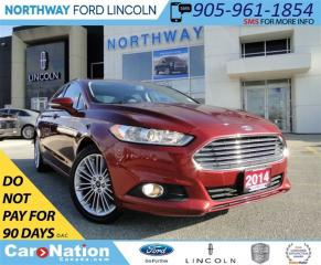 Used 2014 Ford Fusion SE | NAV | REAR CAM | LEATHER | SUNROOF | for sale in Brantford, ON