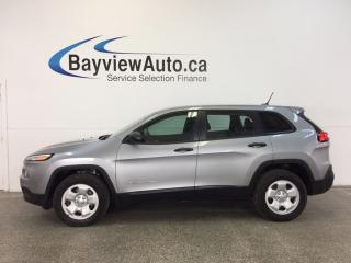 Used 2014 Jeep Cherokee SPORT- 4x4 2.4L SELEC-TERRAIN BLUETOOTH CRUISE! for sale in Belleville, ON