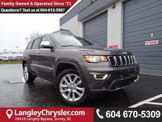 Used 2017 Jeep Grand Cherokee Limited *ACCIDENT FREE * DEALER INSPECTED * CERTIFIED * for sale in Surrey, BC