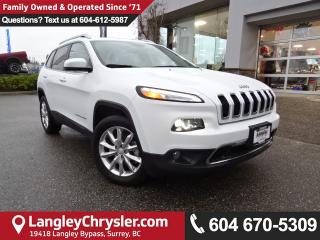 Used 2017 Jeep Cherokee Limited *ACCIDENT FREE*ONE OWNER*LOCAL BC SUV* for sale in Surrey, BC