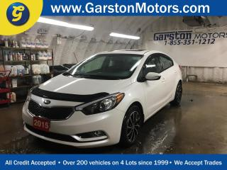 Used 2015 Kia Forte EX*KEYLESS ENTRY*POWER WINDOWS/LOCKS/MIRRORS*HEATED FRONT SEATS*AM/FM/XM/CD/AUX/USB/BLUETOOTH*PHONE CONNECT*CRUISE CONTROL*ECO MODE*TRACTION CONTROL*POWER SUNROOF*ALLOYS*HOOD DEFLECTOR*FOG LIGHTS*RAIN GUARDS* for sale in Cambridge, ON