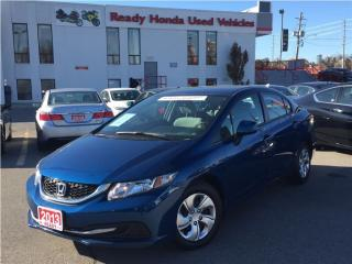 Used 2013 Honda Civic LX      New Tires & Brakes for sale in Mississauga, ON