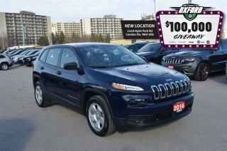 Used 2016 Jeep Cherokee Sport - Remote Start, Back Up Cam, Bluetooth for sale in London, ON