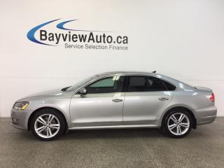 Used 2013 Volkswagen Passat HIGHLINE- TURBO|REM STRT|ROOF|HTD STS|NAV|FENDER! for sale in Belleville, ON