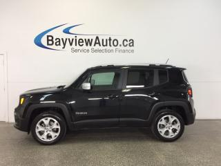 Used 2017 Jeep Renegade LTD- 4x4|HTD LTHR|NAV|PWR TRUNK|REMOVABLE ROOF! for sale in Belleville, ON